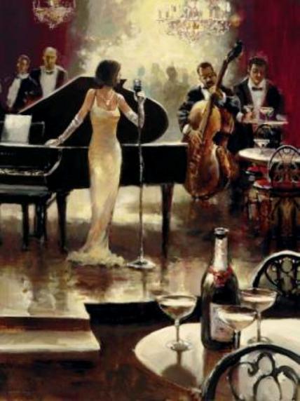 Bar-Jazz-Band mit Swing der 30er Jahre